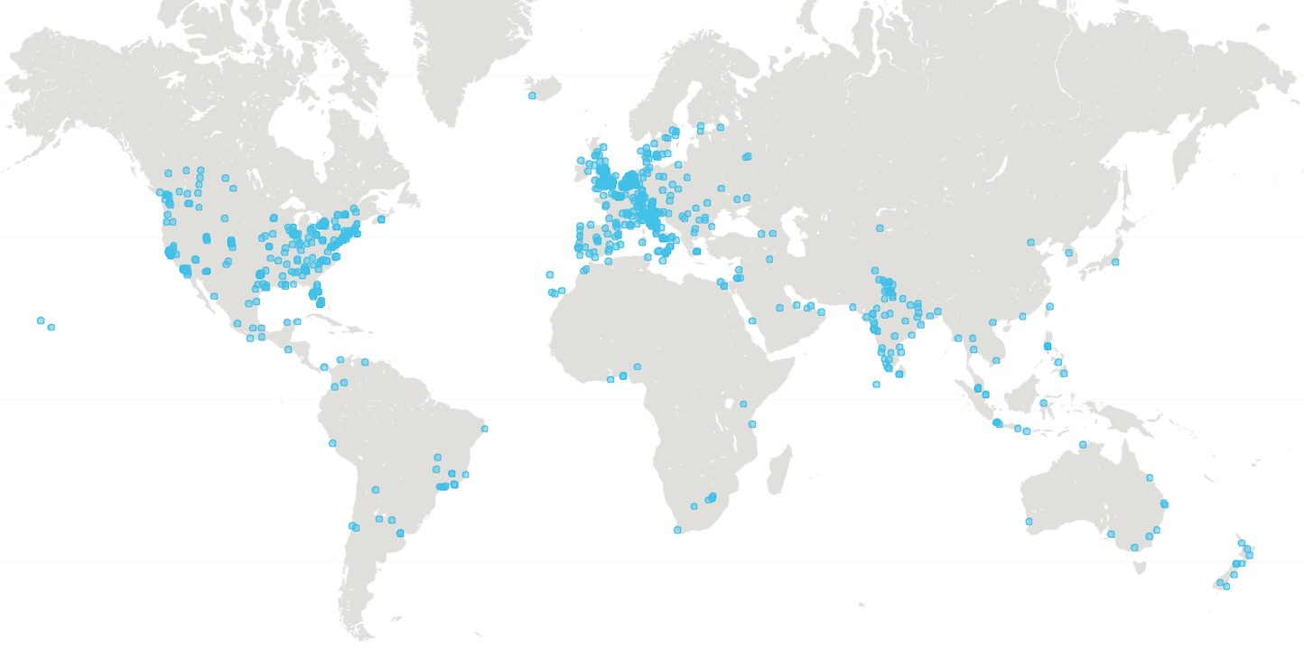 customers on map
