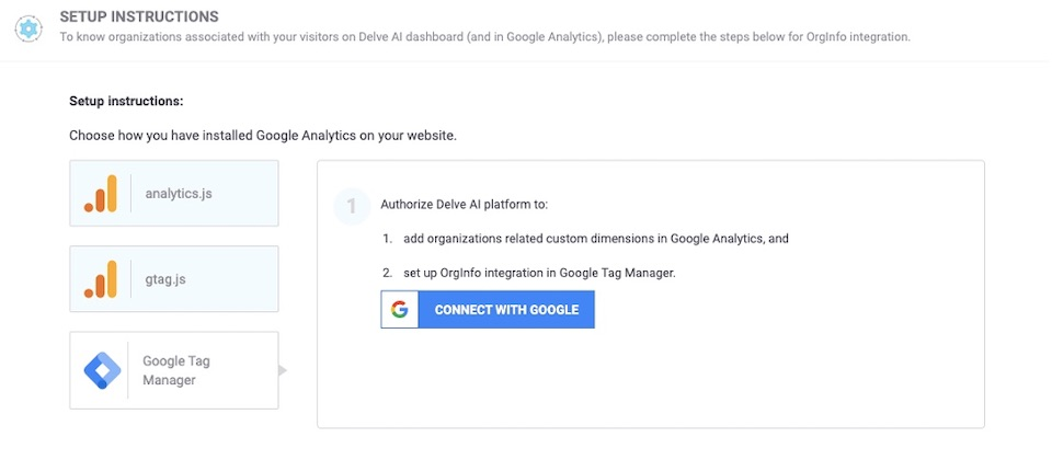 Delve AI organizations tracking using Google Tag Manager - Setup