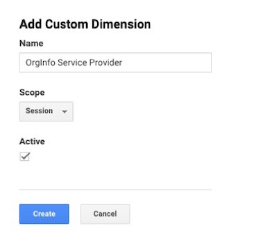 Google Analytics add custom dimension - Service Provider