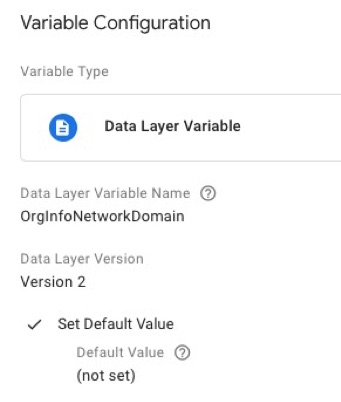 google tag manager variable configuration